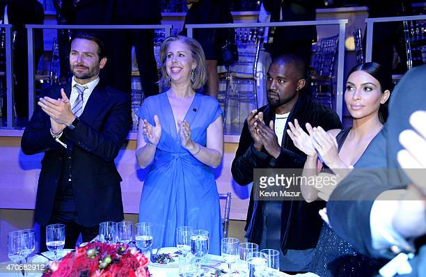 Bradley Cooper Managing Editor Time Magazine Nancy Gibbs Kanye West and Kim Kardashian West attend TIME 100 Gala TIME's 100 Most Influential People...