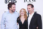 Bradley Cooper Patricia Clarkson and Alessandro Nivola attend the 2015 Tony Awards Meet the Nominees Press Junket at The Paramount Hotel on April 29...