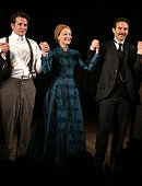 Bradley Cooper Patricia Clarkson and Alessandro Nivola during the Curtain Call for the first Broadway preview performance of 'The Elephant Man' at...