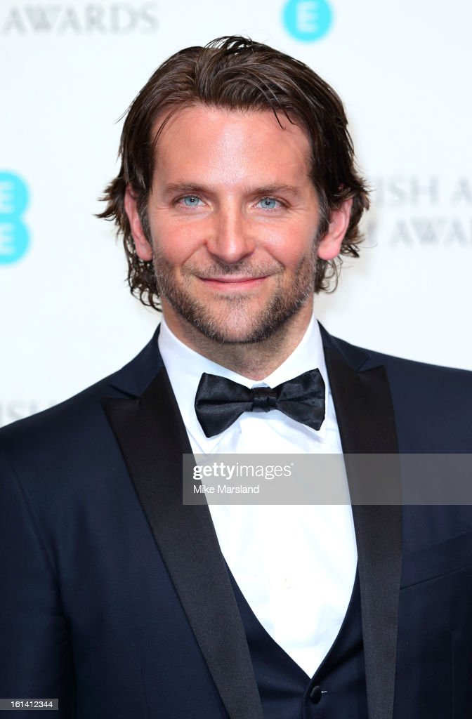 <a gi-track='captionPersonalityLinkClicked' href=/galleries/search?phrase=Bradley+Cooper&family=editorial&specificpeople=680224 ng-click='$event.stopPropagation()'>Bradley Cooper</a> poses in the Press Room at the EE British Academy Film Awards at The Royal Opera House on February 10, 2013 in London, England.