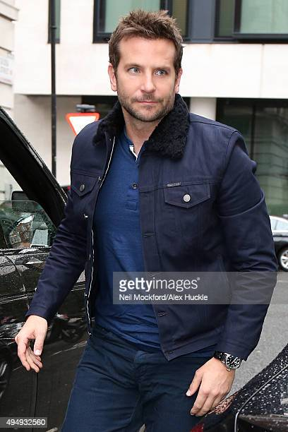Bradley Cooper seen at BBC Radio Studios on October 30 2015 in London England