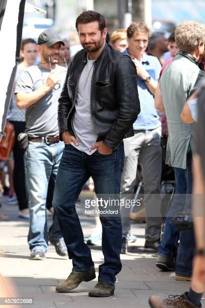 Bradley Cooper seen on the film set of 'Adam Jones' on July 30 2014 in London England