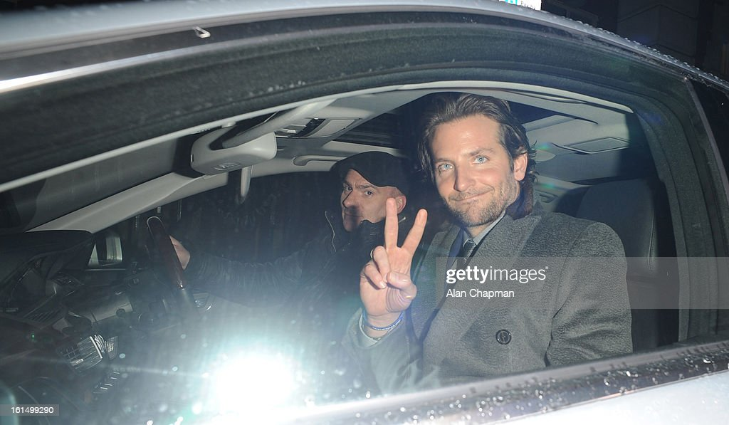 <a gi-track='captionPersonalityLinkClicked' href=/galleries/search?phrase=Bradley+Cooper&family=editorial&specificpeople=680224 ng-click='$event.stopPropagation()'>Bradley Cooper</a> sighting at the Elle Style Awards on February 11, 2013 in London, England.