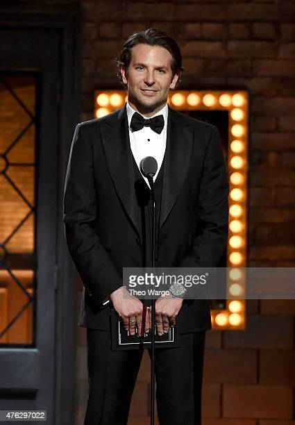 Bradley Cooper speaks onstage at the 2015 Tony Awards at Radio City Music Hall on June 7 2015 in New York City