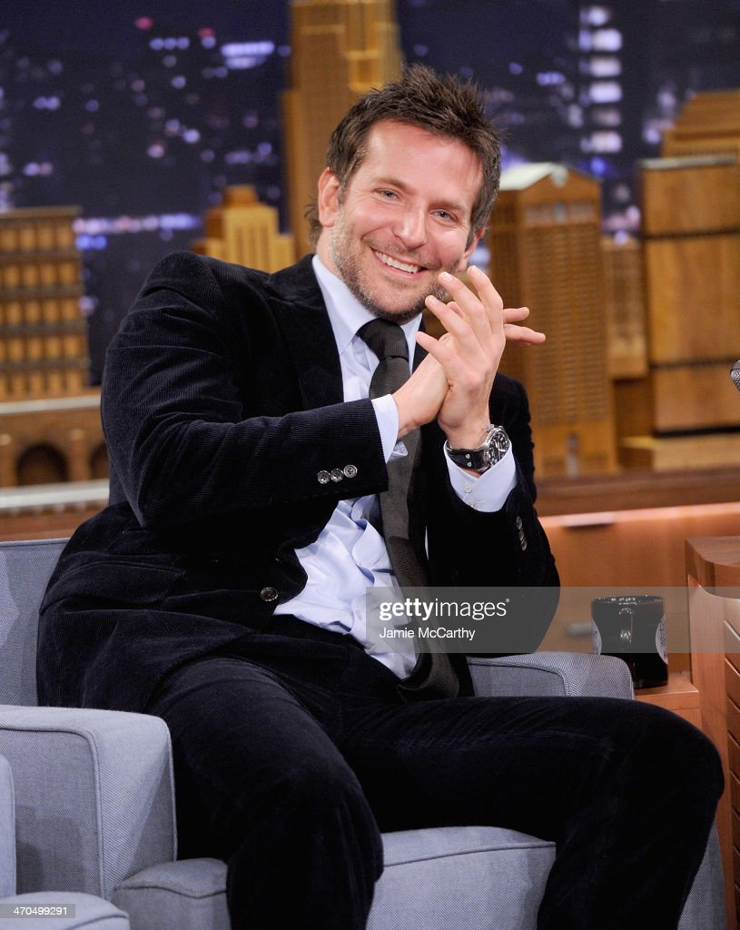 <a gi-track='captionPersonalityLinkClicked' href=/galleries/search?phrase=Bradley+Cooper&family=editorial&specificpeople=680224 ng-click='$event.stopPropagation()'>Bradley Cooper</a> visits 'The Tonight Show Starring Jimmy Fallon' at Rockefeller Center on February 19, 2014 in New York City.
