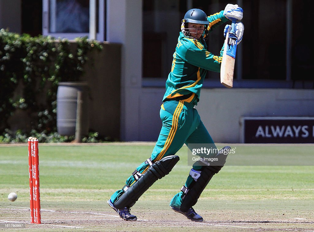 Bradley Dial of South Africa during the 2nd U/19 Youth One Day International match between South Africa and England at Bellville Cricket Club on February 15, 2013 in Cape Town, South Africa.