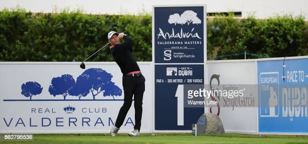 Bradley Dredge of Wales in action during the pro am ahead of the Andalucia Valderrama Masters at Real Club Valderrama on October 18 2017 in Cadiz...