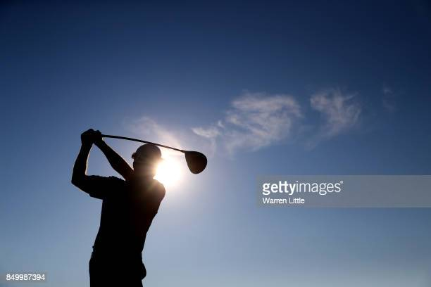 Bradley Dredge of Wales in action during the proam of the Portugal Masters at the Dom Pedro Victoria Golf Club on September 20 2017 in Albufeira...
