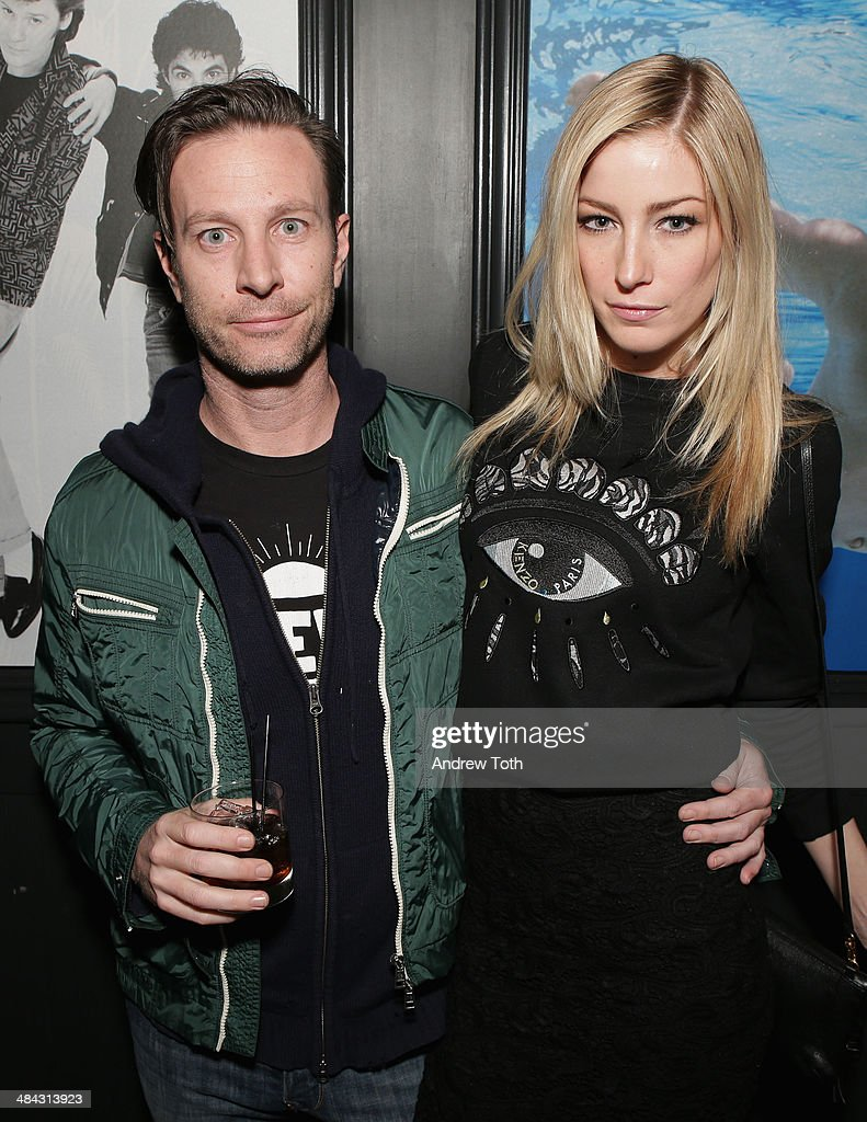 Bradley Kohn (L) and model Aimee Ruby attend the FairVote Benefit hosted by Krist Novoselic and Rock Paper Photo at No.8 on April 11, 2014 in New York City.