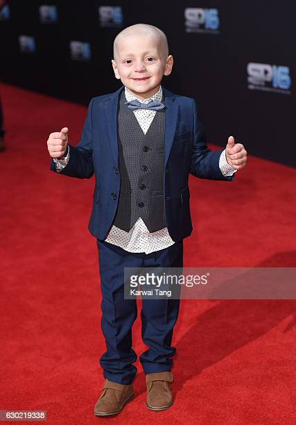 Bradley Lowery attends the BBC Sports Personality Of The Year at Resorts World on December 18 2016 in Birmingham United Kingdom