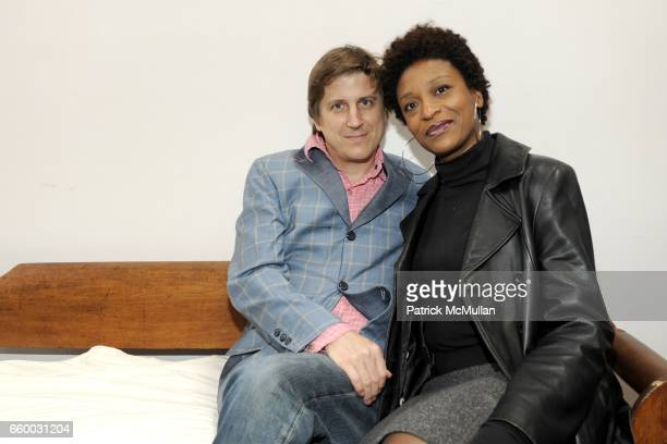 Bradley McCallum and Jacqueline Tarry attend Cocktails in honor of Artwalk NY and Coalition for the Homeless at Rauschenberg Studio on May 4 2009 in...