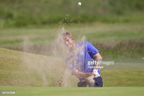 IRELAND JUNE 22 Bradley Neil during the final of The Amateur Championship at Royal Portrush Golf Club on June 22 2014 in Portrush Northern Ireland