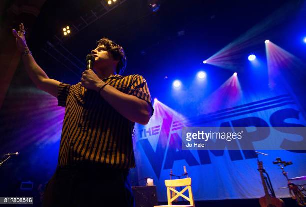 Bradley Simpson of The Vamps performs at O2 Shepherd's Bush Empire on July 11 2017 in London England