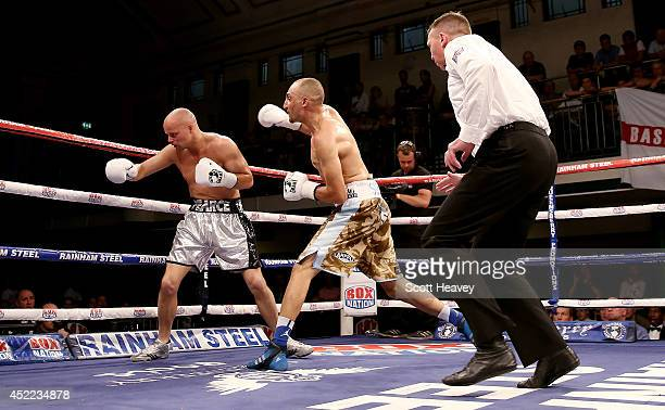 Bradley Skeete knocks out Steve Pearce during their Welterweight bout at York Hall on July 16 2014 in London England