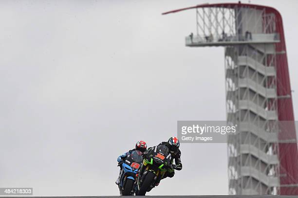 Bradley Smith of Great Britain and Monster Yamaha Tech 3 leads the field during the MotoGp Red Bull US Grand Prix of The Americas Free Practice at...