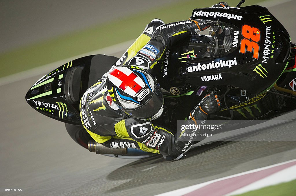 Bradley Smith of Great Britain and Monster Yamaha Tech 3 rounds the bend during the MotoGp of Qatar - Free Practice at Losail Circuit on April 5, 2013 in Doha, Qatar.