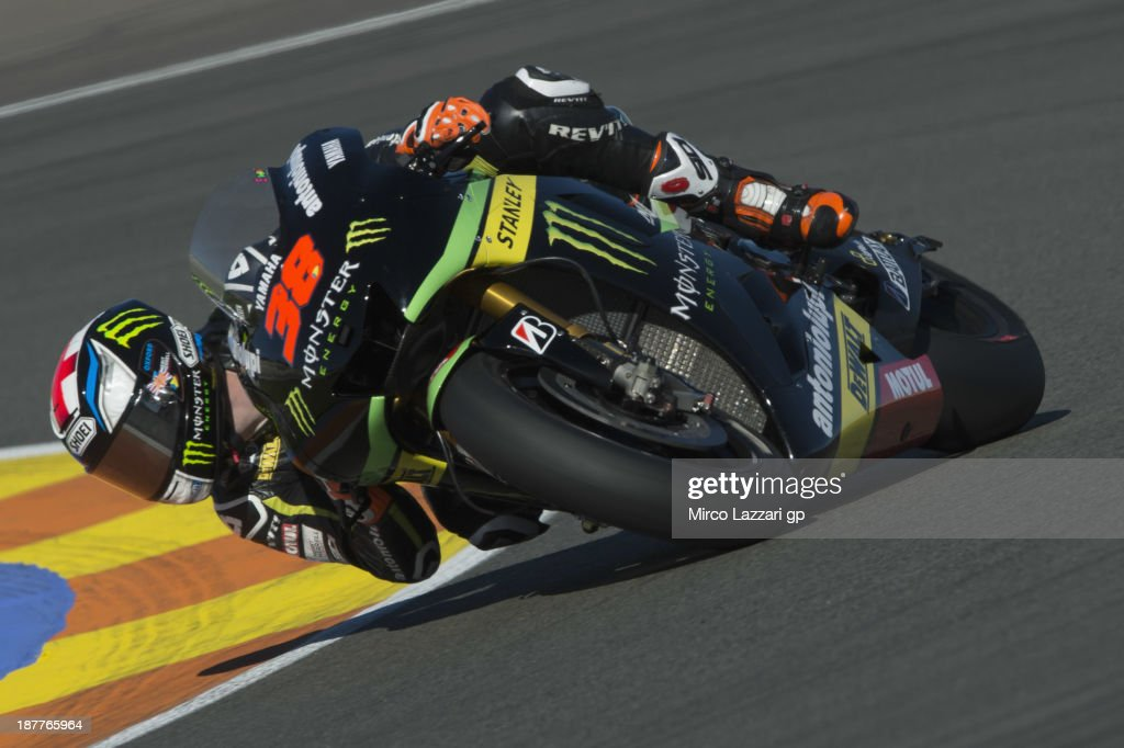 Bradley Smith of Great Britain and Monster Yamaha Tech 3 rounds the bend during the MotoGP Tests in Valencia - Day 2 at Ricardo Tormo Circuit on November 12, 2013 in Valencia, Spain.