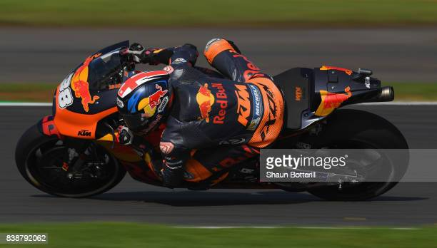 Bradley Smith of Great Britain and Red Bull KTM Factory Racing during Free Practice at Silverstone Circuit on August 25 2017 in Northampton England
