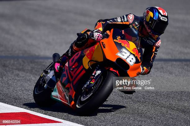 Bradley Smith of Redbull KTM Factory Racing Team riding his bike during the Free Practice 3 Moto GP of Catalunya at Circuit de Catalunya on June 10...