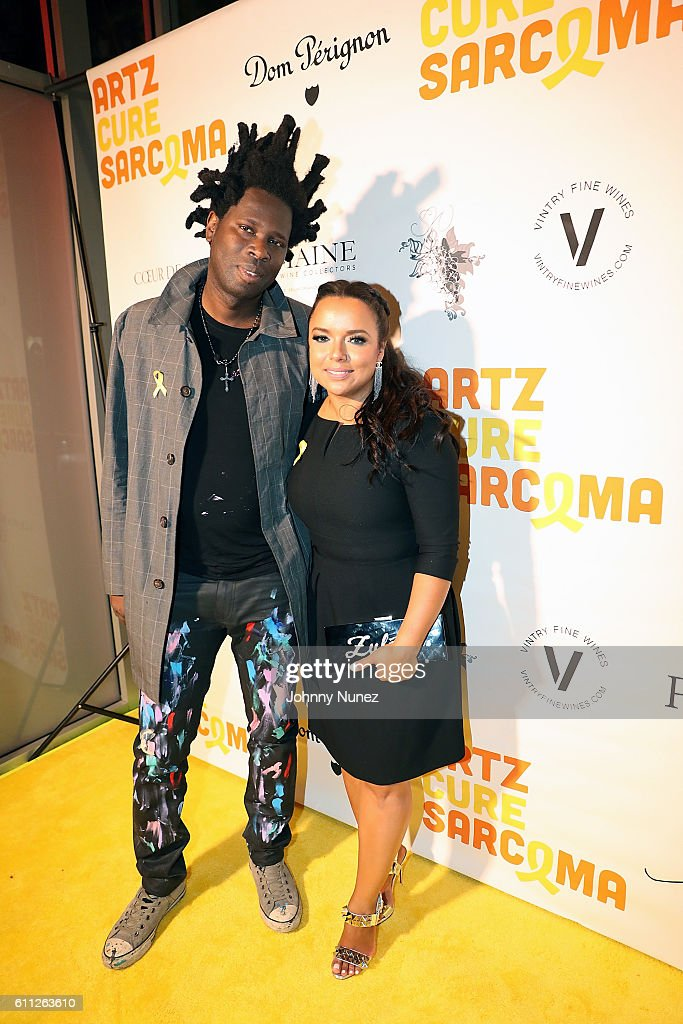 Bradley Theodore and Zulema Arroyo attend 2nd Annual Artz Cure Sarcoma Benefit Auction at Corkbuzz Restaurant & Wine Bar on September 28, 2016 in New York City.