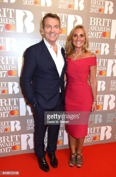 ONLY Bradley Walsh and Donna Derby attend The BRIT Awards 2017 at The O2 Arena on February 22 2017 in London England
