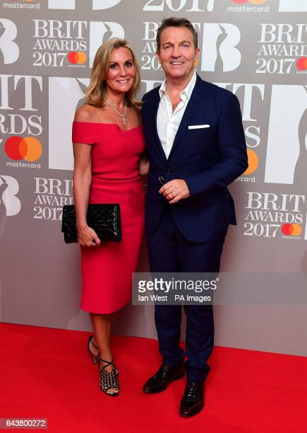 Bradley Walsh and Donna Derby attending the Brit Awards at the O2 Arena London