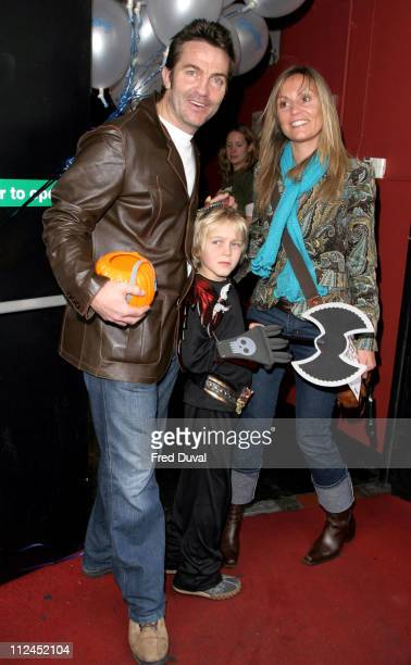 Bradley Walsh and family during Scooby Doo Halloween Party October 29 2004 at Rex Cinema in London United Kingdom