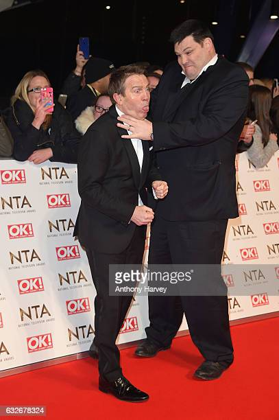 Bradley Walsh and Mark Labbett attend the National Television Awards on January 25 2017 in London United Kingdom