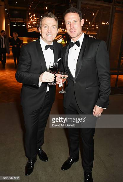 Bradley Walsh and Wayne Bridge attend the National Television Awards cocktail reception at The O2 Arena on January 25 2017 in London England