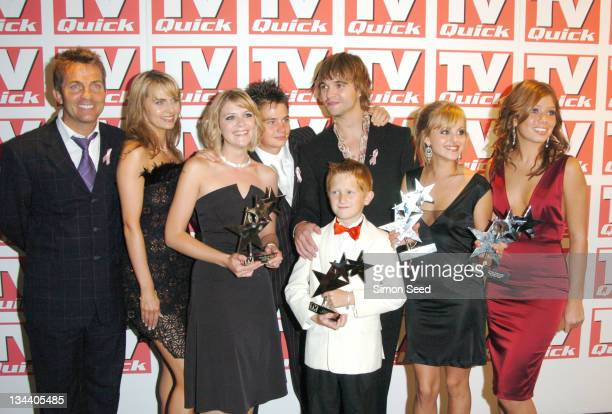 Bradley Walsh Debra Stephenson Jane Danson Samuel Aston Tina O'Brien and Nikki Sanderson the cast of Coronation Street