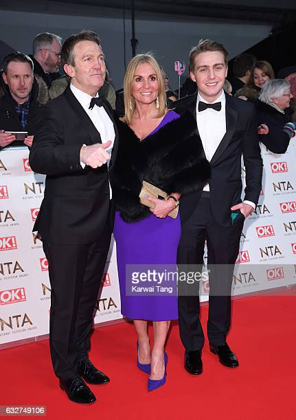 Bradley Walsh Donna Derby and Barney Walsh attend the National Television Awards at The O2 Arena on January 25 2017 in London England