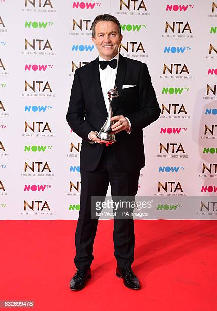 Bradley Walsh in the press room with the Best Daytime Award for 'The Chase' at the National Television Awards 2017 held at The O2 Arena London PRESS...