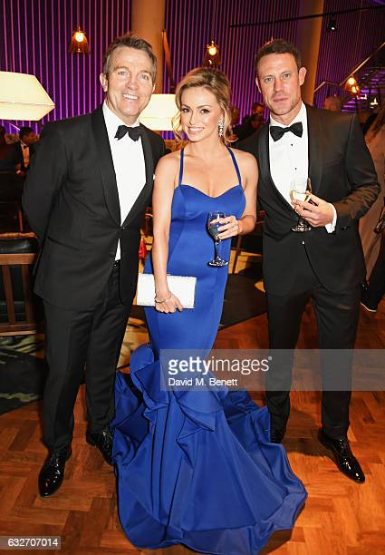 Bradley Walsh Ola Jordan and Wayne Bridge attend the National Television Awards cocktail reception at The O2 Arena on January 25 2017 in London...