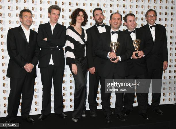 Bradley Walsh Peter Capaldi Anna Chancellor Adam Tandy Armando Iannucci Simon Blackwell and Chris Langham winners of best SitCom for The Thick of It