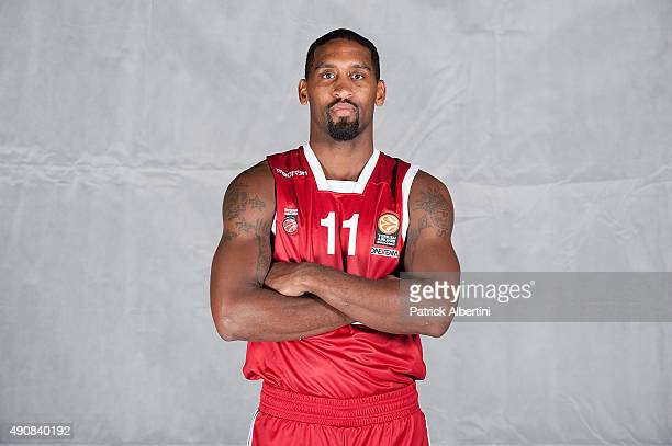 Bradley Wanamaker #11 of Brose Baskets Bamberg poses during the 2015/2016 Turkish Airlines Euroleague Basketball Media Day at Brose Arena on...