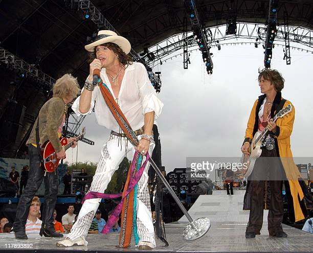 Bradley Whitford Steven Tyler and Joe Perry of Aerosmith