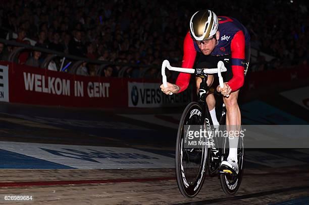 Bradley Wiggins pictured during 'Ciao Fabian' An event to honour Fabian Cancellara's carreer In Kuipke Gent Belgium on Saturday november 12 2016