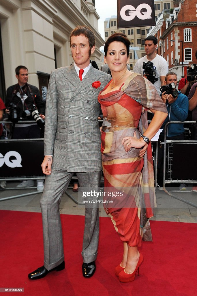 <a gi-track='captionPersonalityLinkClicked' href=/galleries/search?phrase=Bradley+Wiggins&family=editorial&specificpeople=182490 ng-click='$event.stopPropagation()'>Bradley Wiggins</a> with wife Catherine Wiggins attends the GQ Men of the Year Awards 2012 at The Royal Opera House on September 4, 2012 in London, England.