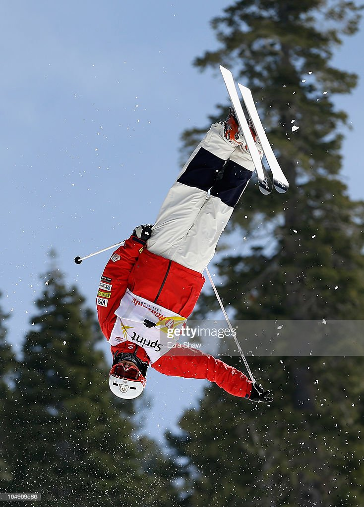 Bradley Wilson competes in the Men's Moguls at the U.S. Freestyle Moguls National Championship at Heavenly Resort on March 29, 2013 in South Lake Tahoe, California. Wilson won the event.