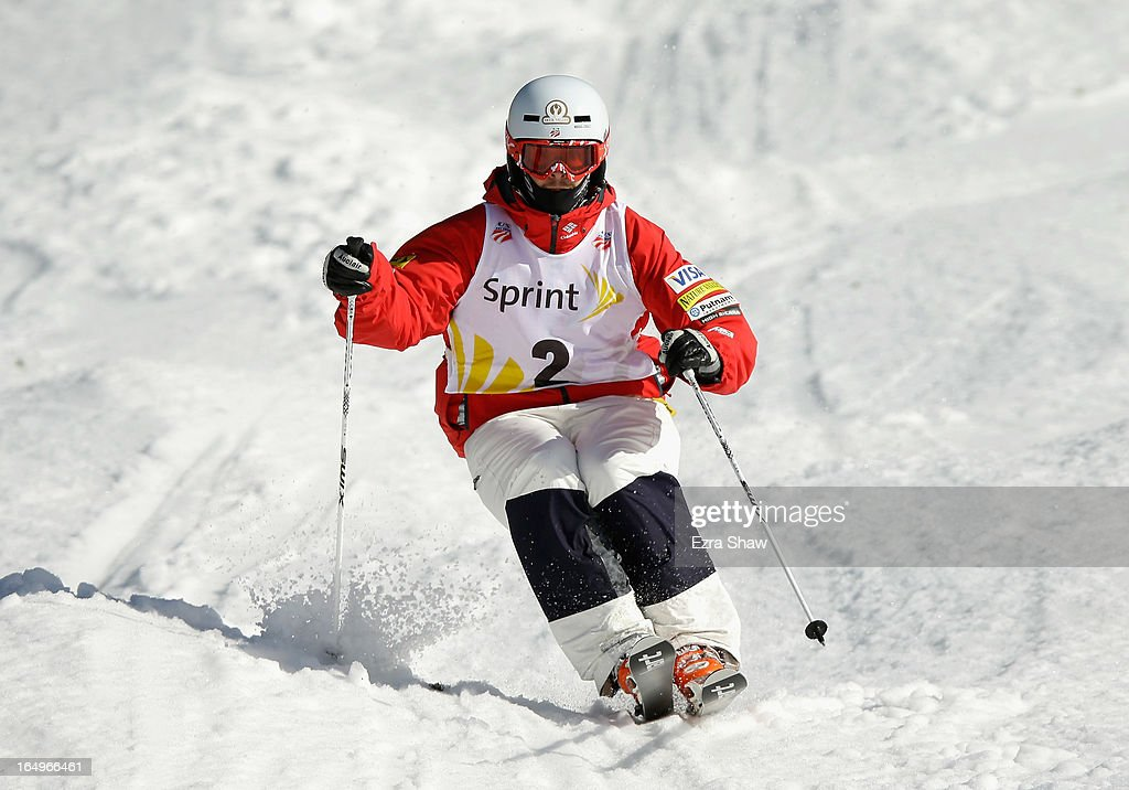 Bradley Wilson competes in the Men's Moguls final at the U.S. Freestyle Moguls National Championship at Heavenly Resort on March 29, 2013 in South Lake Tahoe, California. Wilson won the event.