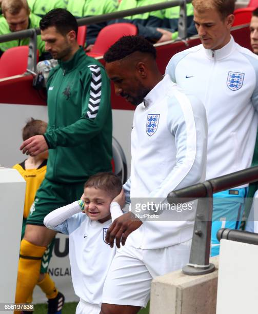 BradleyLowrey with England's Jermain Defoe during FIFA World Cup Qualfying European Group F match between England against Lithuania at Wembley...