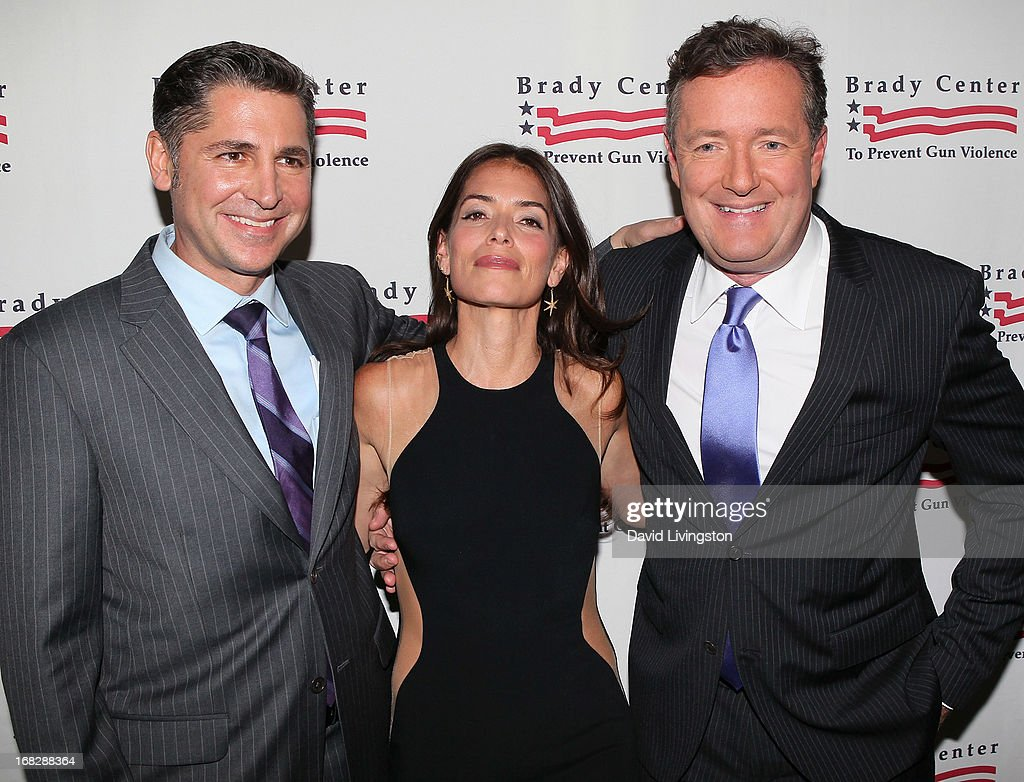 Brady Campaign president Dan Gross, attorney Laura Wasser and TV host Piers Morgan attend the Brady Campaign To Prevent Gun Violence 2013 Los Angeles Benefit Event at the Beverly Hills Hotel on May 7, 2013 in Beverly Hills, California.