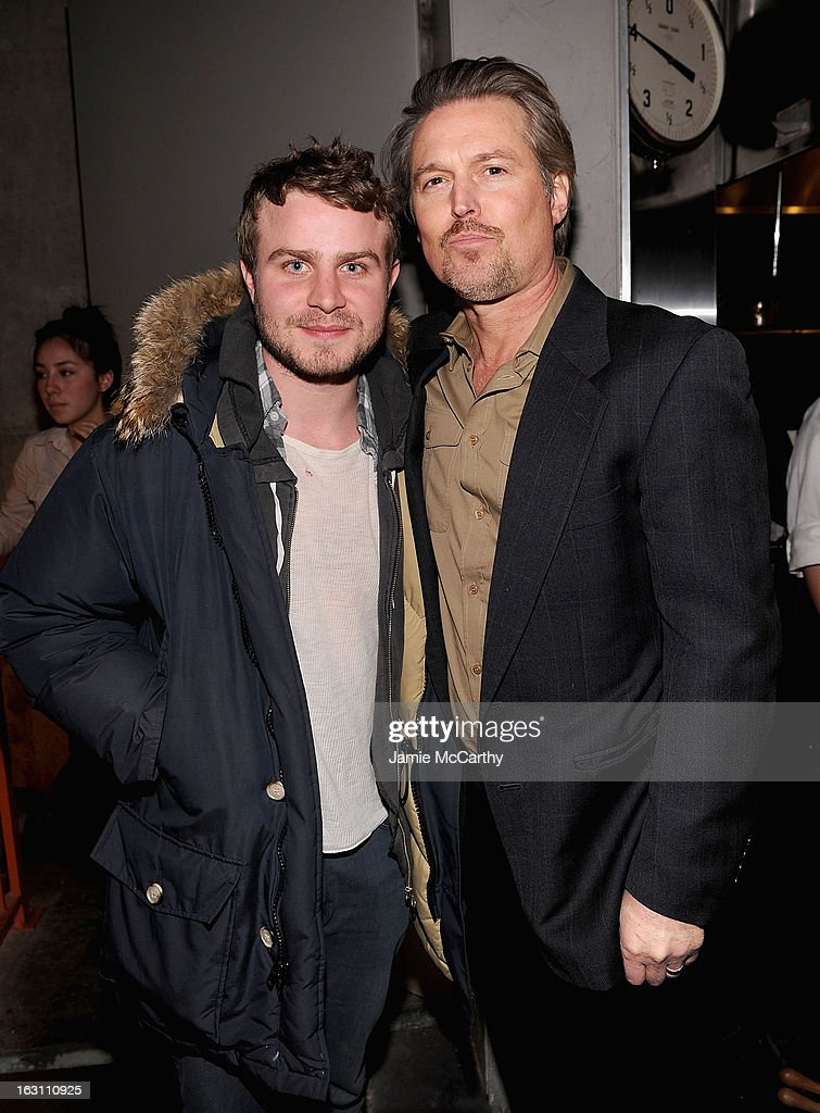 <a gi-track='captionPersonalityLinkClicked' href=/galleries/search?phrase=Brady+Corbet&family=editorial&specificpeople=217470 ng-click='$event.stopPropagation()'>Brady Corbet</a> and Bill Sage attend the after party for The Cinema Society & Make Up For Ever screening of 'Electrick Children' at Hotel Americano on March 4, 2013 in New York City.
