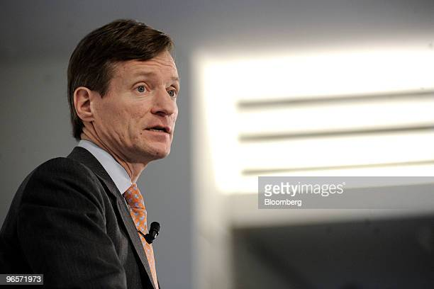 Brady Dougan chief executive officer of Credit Suisse speaks at the bank's news conference in Zurich Switzerland on Thursday Feb 11 2010 Credit...