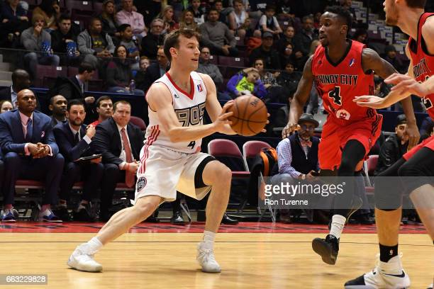 Brady Heslip of the Raptors 905 passes the ball against the Windy City Bulls on March 30 2017 in Mississauga Ontario Canada NOTE TO USER User...