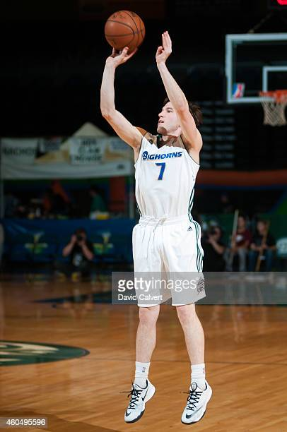 Brady Heslip of the Reno Bighorns shoots a threepointer against the Erie BayHawks during an NBA DLeague game on December 14 2014 at the Reno Events...