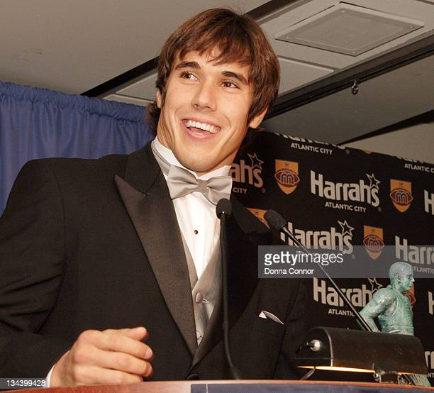 Brady Quinn University of Notre Dame quarterback during 70th Annual Maxwell Football Club Awards at Harrah's Atlantic City in Atlantic City New...