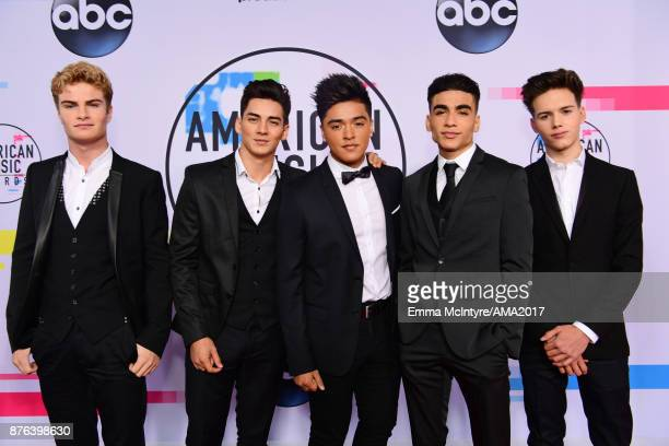Brady Tutton Chance Perez Sergio Calderon Drew Ramos and Michael Conor of In Real Life attend the 2017 American Music Awards at Microsoft Theater on...