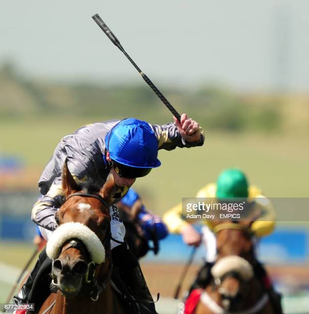 Brae Hill ridden by Barry McHugh comes up the rail to win the 32Red Bunbury Cup