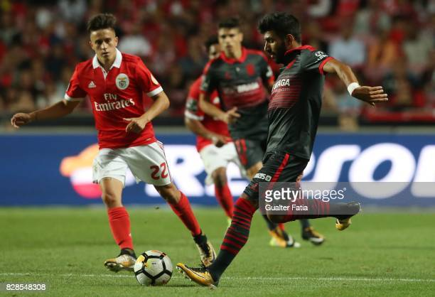 Braga defender Ricardo Esgaio from Portugal in action during the Primeira Liga match between SL Benfica and SC Braga at Estadio da Luz on August 9...